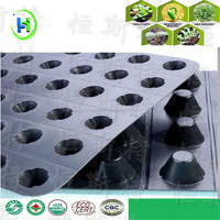 HDPE Dimpled Sheet Black