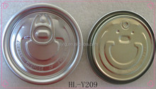 Aluminum EOE for can tab lid #209