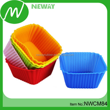 FDA/LFGB Approved Square Shape Silicone Cake Cup