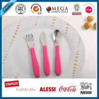 stainless steel spoon and fork of kids set