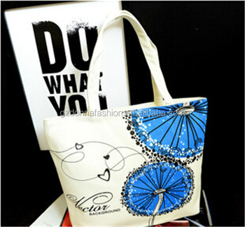 New Arrival Wholesale Custom Cotton Canvas DNBG3SB006 Tote Bags