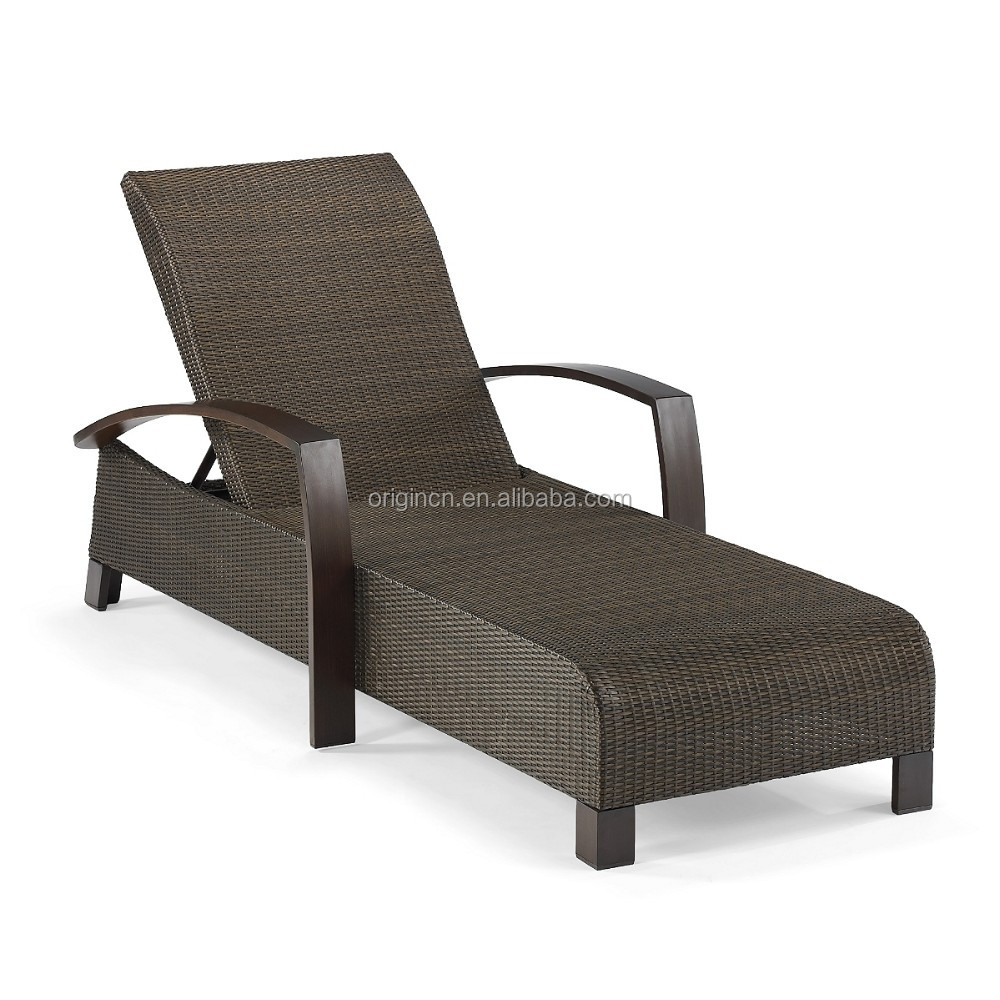 Cheap flat pe wicker hotel swimming pool chaise lounge for Chaise lounge cheap uk