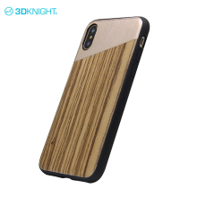 Alloy and real zebra wood lack woden case for apple iphone X online phone covers