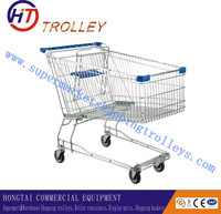 Electric Supermarket Shopping Carts 4 Wheels Shopping Trolley for Sale