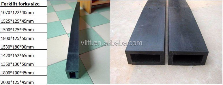 Rubber Material Forklift Attachment Fork Extention Slipper