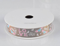 "Newest Cute Style ""LOVE"" Ptrinted Grosgrain Ribbon For Decoration"