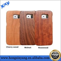 For Galaxy S6 Real Wooden Protective Back Cover