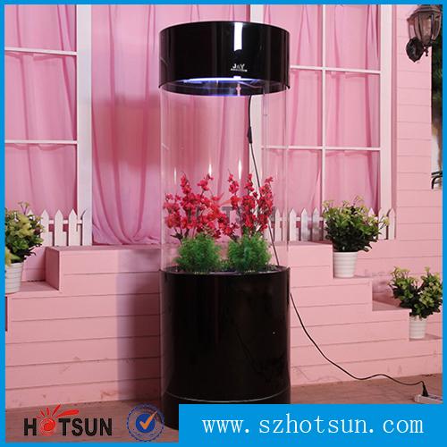 White Indoor Acrylic Fish Aquarium Fish Tank Cylinder