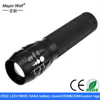 most powerful adjustable beam rechargeable camping flashlight
