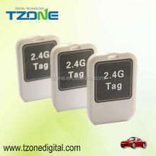 Hot sale cheap small size handheld RFID 2.4G Active Tag TZ-Tag02