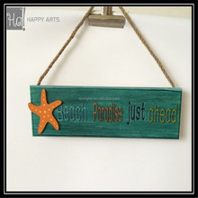 home decor beach wooden sign for wall hanging