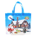 ROHS passed full color laminated Christmas shopping non woven bag