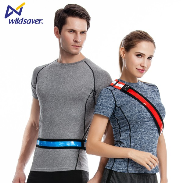 Lycra material LED high working safety waist protective belts for sports