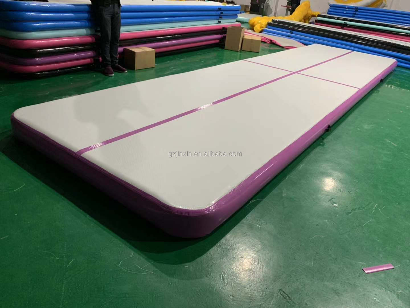 Gymnastics Training Set Inflatable Crash Airtrack Spring Board Roller Mat DWF Inflatable Mattress Sport Air Track 3m
