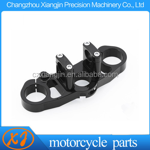 Chinese factory CNC motorcycle upper and bottom triple clamp Made in China