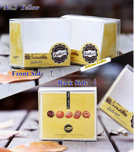 Cookies thin rectangular clear plastic boxes
