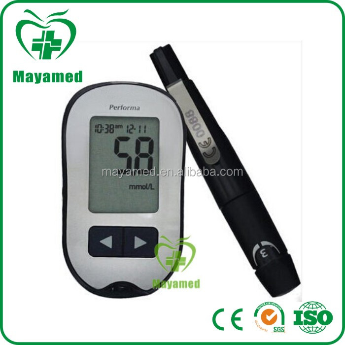 2016 MAYA medical home fast test strips Blood glucose meter With Strip Ejector