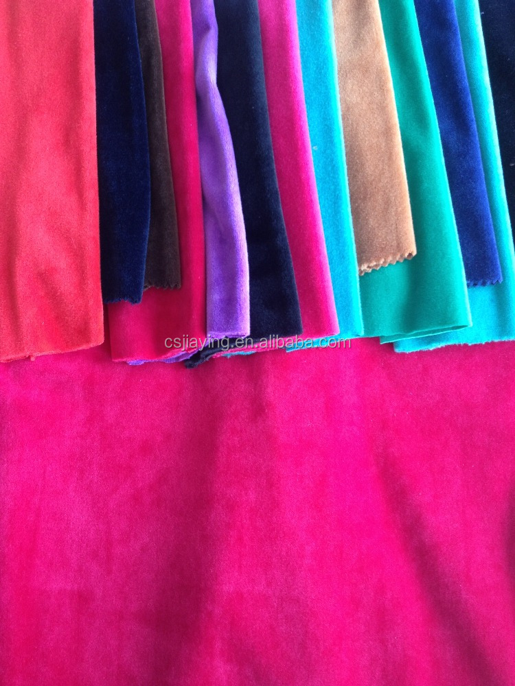 micro velvet 9000 warp knitting Fabric popular in market from China factory