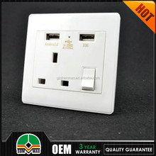 3 pin british eletric socket, uk wall electric usb socket outlet USUN 10 years warranty