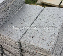 cheap chinese flamed and brush basalto slab, rought finishing,bushhammered bluestone volcanic step and stairs