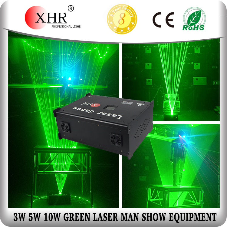 pc control green stage Laser man Dj lighting Dancing laserman show equipment