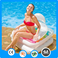 Water play inflatable folding lounge floating pool chairs for adult