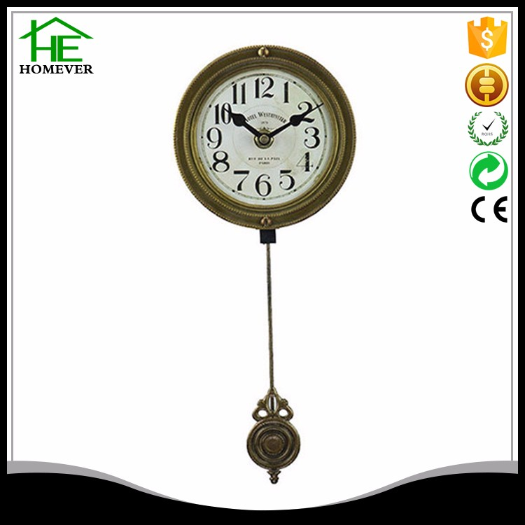 wholesale vintage wall retro mdf wood-like clock
