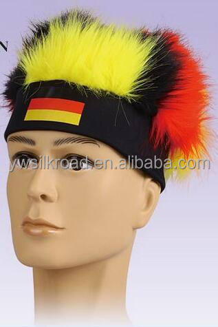 Grade 5A virgin Hot selling natural football fan wig