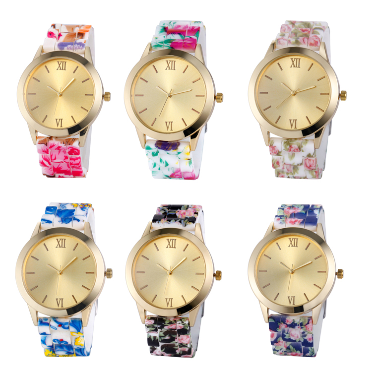 Silicon watch colorful your logo or no logo customized women watch in silicone