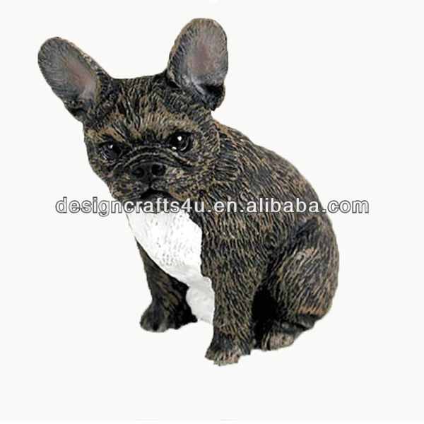 hand painted resin bulldog figurine wholesale