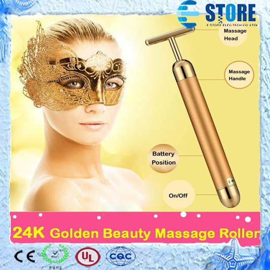 Massage Roller 24K Gold Electric Kakusan Beauty Roller