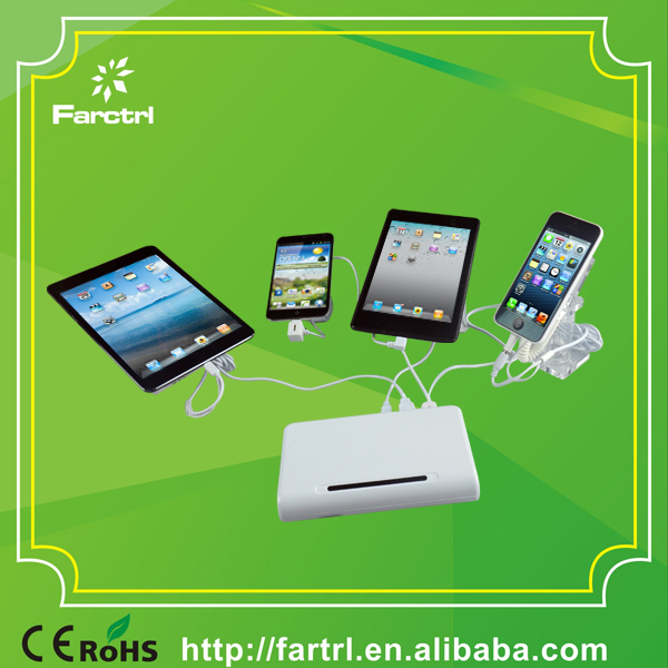 Multi USB Port Alarm Charging Mobile Phone and Laptop Security Display Device for Experiential Shop Display