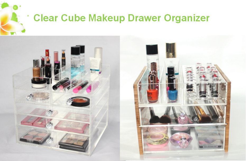 deluxe clear makeup organizer storage
