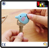Hot sale soft pvc key covers / 3d embossed rubber key cap / key cover for car keys