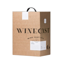 Custom cardboard wine glass gift box with handle