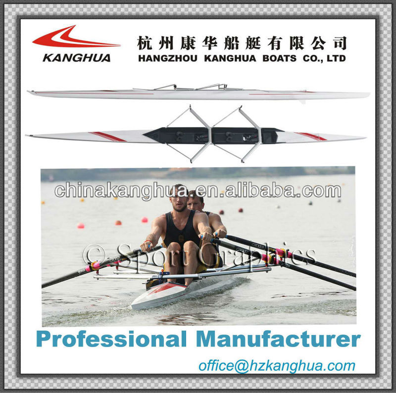 fiberglass speed 2X inverted racing shell/rowing scull