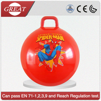 wholesale ECO-friendly pvc hopper ball jumping ball with handle for kids