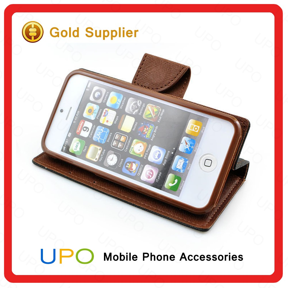 [UPO] High Quality Wallet Style Mixed Color Linen Leather Flip Cover Mobile Phone Case for iPhone 7