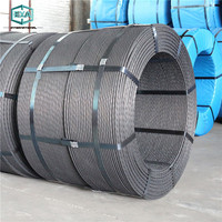 china tianjin factory 1860Mpa post tensioning 7 wire 15.2mm 15.24mm prestressing PC steel strand rope