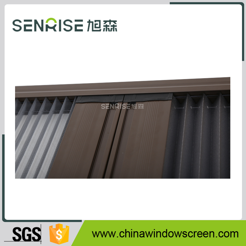 Sliding aluminium doors standard powder coated frame pleated insect screen