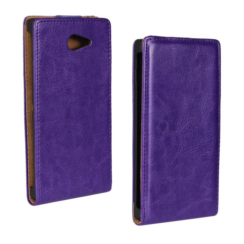 Luxury Leather Flip Case Cover For Sony Xperia M2 Vertical PU Protective Shell Phone Bags