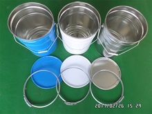 25L coating bucket /drum/pail/can /containers with handle hoop lids