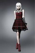 punk lolita sex lovely visual rock style Scottish plaid dress Q-205 from punk rave Chinese fashion factory