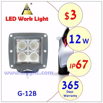 factory price car led work light HIGH POWER OF 18W