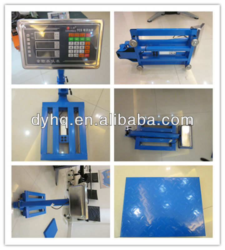 Foldable electronic platform scales