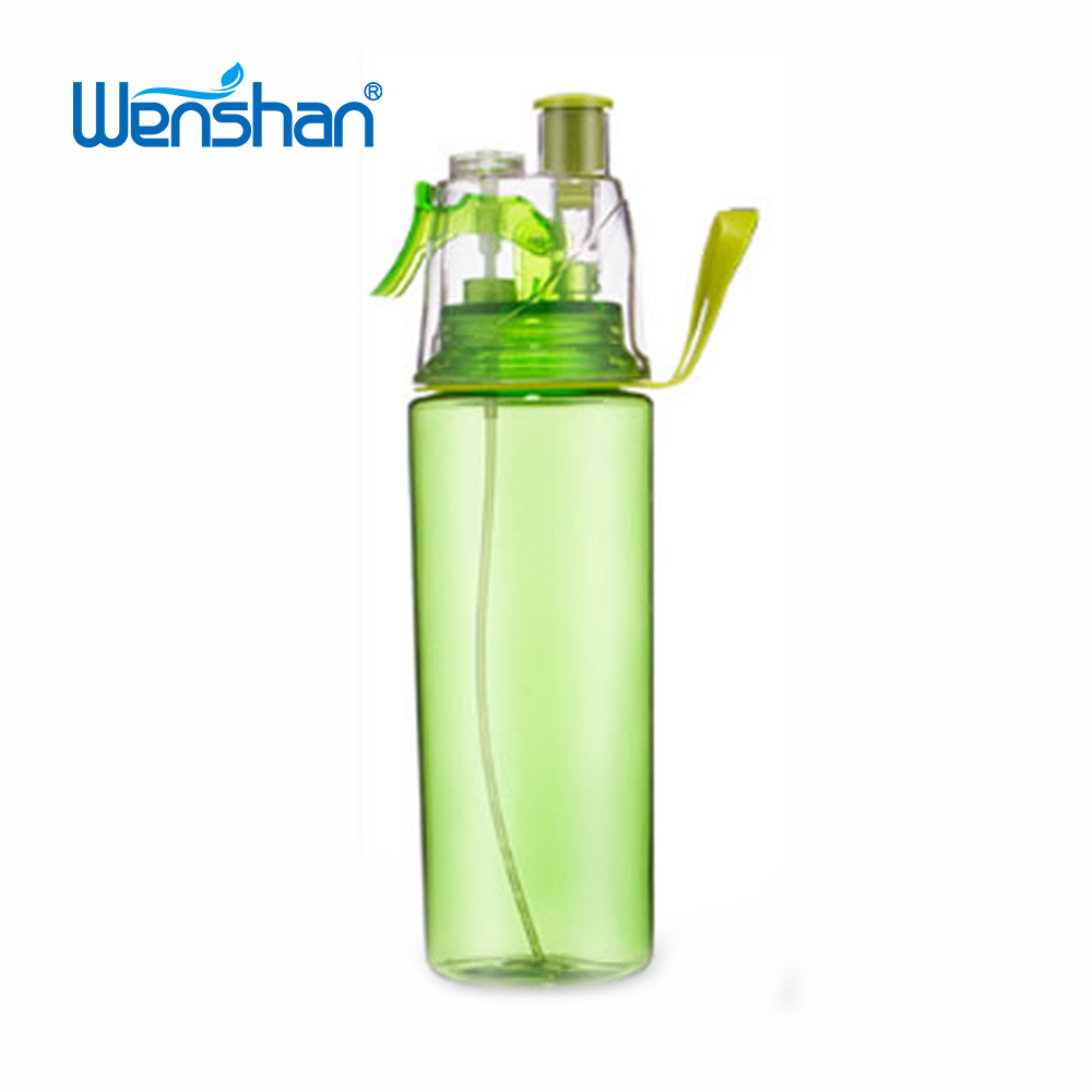 BPA free PC 750ml sports flip straw drink spary water bottle promotional