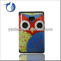Latest owl priting case for lg optimus l3 e400 cell phone back cover