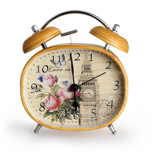 6 inches 10cm wholesale pretty metal clock retro alarm clock for desktop