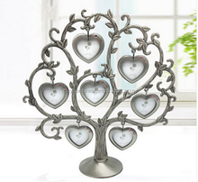 Metal funny lovely family tree collage photo picture frame