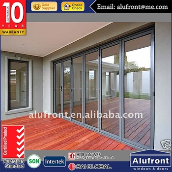 High Quanlity AS 2047 standard glass aluminium bi folding door